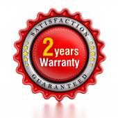 2 year warranty stamp — Foto Stock