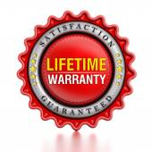 Lifetime warranty stamp — Stock Photo