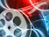 Film reel background — Stock Photo
