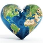 Heart shaped earth — Stock Photo #69981663