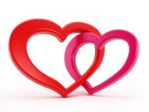 Two hearts intertwined — Stock Photo