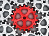 Red gear part — Stock Photo