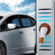Electric car in charging station — Stock Photo #71869731