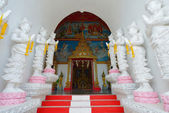 Thai temple of buddhism, Wat Sanpayang luang, Lamphun, Thailand — Stock Photo