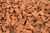 Brick for building construction — Stock Photo