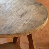 Wood curve corner furniture — Stock Photo