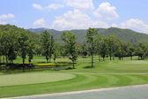 Green golf course — Stock Photo