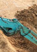 Bras de travail tracteur pelle — Photo