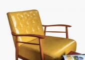 Sofa leather furniture isolated — Stock Photo