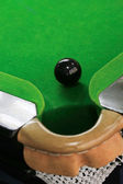 Snooker balls on green snooker table — Stock Photo