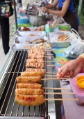Grilled pork and sausage — Foto Stock