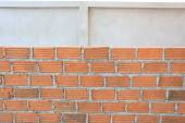 Brick block in residential construction site — Stock Photo