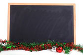 Blackboard decorated merry christmas day — Stock Photo