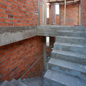 Staircase in residential building construction site — Stock Photo