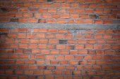 brick wall in residential building construction site — Foto Stock