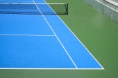 Blue and green tennis court — Stock Photo