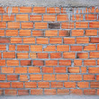 Brick wall in residential building construction site — Stock Photo #54862095