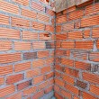 Brick wall in residential building construction site — Stock Photo #55036175