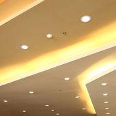 Interior of light on ceiling modern design with sprinkler fire s — Stock Photo
