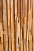 Timber wood brown stick used wall texture background — Stock Photo