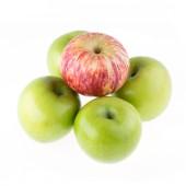Apfel obst isoliert auf weißem hintergrund — Stockfoto