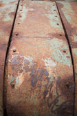 Rusty metal plate corroded aged texture background — Stock Photo