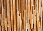 Timber wood brown stick used wall texture background — Foto de Stock