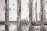 Old white wood door weathered background — Stock Photo