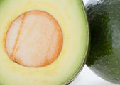 Close up avocado green fruit — Stock Photo