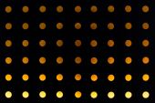 Orange background of circle light decorated wall in nightclub — Foto de Stock