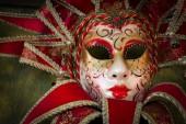 Rode carnaval masker — Stockfoto