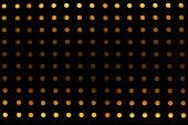 Orange background of circle light decorated wall in nightclub — Stockfoto
