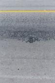 Asphalt black road empty with crack damage — Stock fotografie