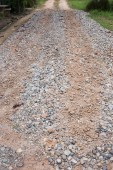 Dirt road countryside with gravel surface — Stockfoto