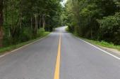 Asphalt road way empty — Stock fotografie