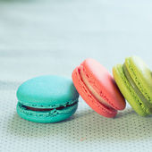 Colorful macaron sweet tasty dessert — Stock Photo