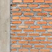 Brick wall construction grunge texture background — Stock Photo