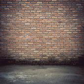 Brick wall construction design of vintage background — Stockfoto