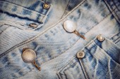 Jeans shirt clothing with metal button on clothing textile indus — ストック写真