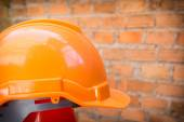 Construction helmet safety for protect worker from accident — Stock Photo