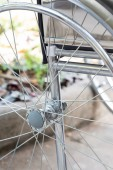 Detail of empty wheelchair — Foto de Stock