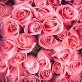 ピンクのバラの花ブーケ ビンテージ背景 — ストック写真
