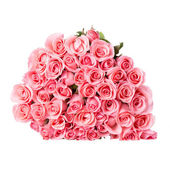 Bukiet róża różowy kwiat na białym tle — Zdjęcie stockowe