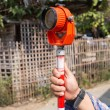 Tool of surveying measuring equipment level transit for engineer — Stock Photo #74376099