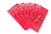 Red envelope isolated on white background for gift — Stock Photo