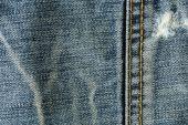 Denim design of fashion jeans textile background — Stock Photo