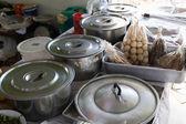 当地食物的餐厅,在市场上,泰国 — 图库照片