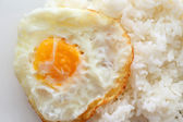 Rice and fried eggs of easy breakfast cooking — Stock Photo