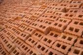 Pile of brick block used for industrial in residential building — Stock Photo
