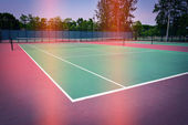 Green tennis court sport background, image used retro filter — Стоковое фото